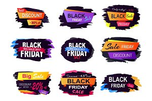 Big Sale Discount Offer Friday Vector Illustration