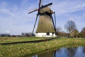 Vervoorne mill near Werkendam