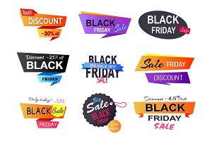 Only Today -35% Black Friday Vector Illustration