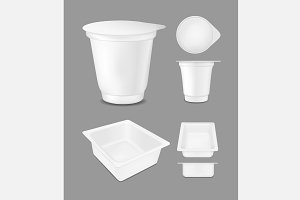 White empty plastic container