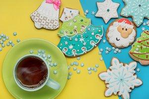 Homemade cookies and hot tea.