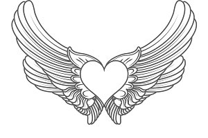 heart angel isolated on white vector
