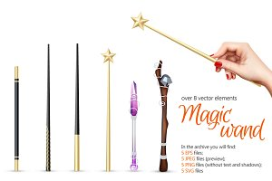 Sale! Magic Wand Realistic Set