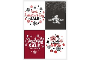 Best Valentines Day Sale Vector Illustration