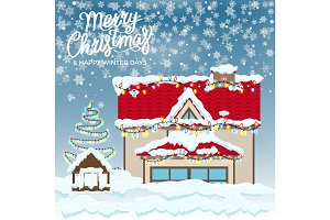 Merry Christmas & Happy Winter Days Postcard