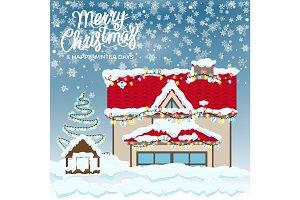 Merry Christmas & Happy Winter Days Postcard