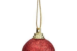 christmas ball erd isolated on white background