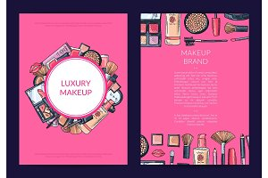 Vector card, flyer, brochure template for beauty brand