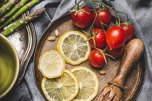 Asparagus cooking ingredients