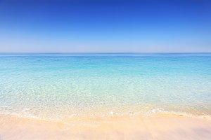 Dubai beach on a sunny day