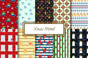 Xmas Mood Seamless Patterns