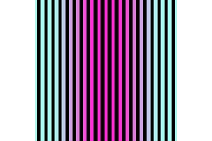 Modern seamless gradient pink to blue striped pattern in 80s 90s style