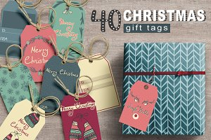 40 Christmas tags