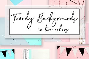 Trendy backgrounds in two colors