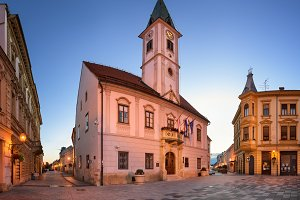 Varazdin Townhall in the Morning