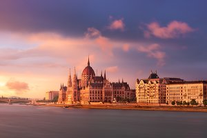 Budapest Parliament and Danube River