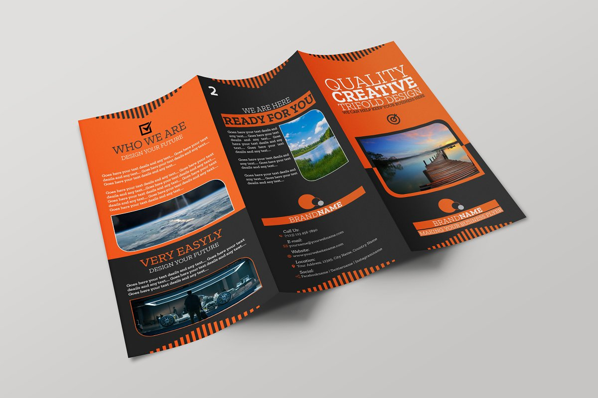 Brochure Corporate Trifold InDesign ~ Brochure Templates