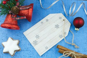 Blank wooden tag, decorations