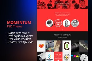 Momentum - Multipurpose PSD Template