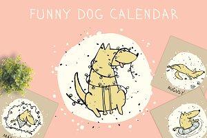 Funny dog calendar