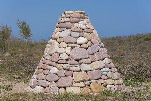 Pyramid of stones.
