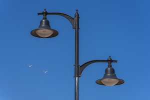 Lampposts.