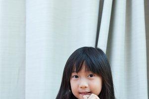 portrait asia girl.