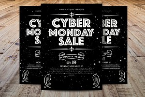 Minimal Cyber Monday Sale Flyer