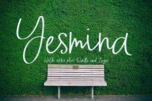 Yesmina | Font & Logos + Doodle