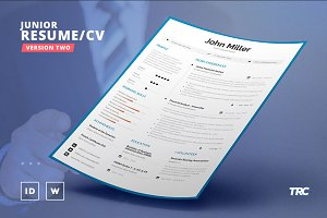 Junior Resume/Cv Template Volume 2
