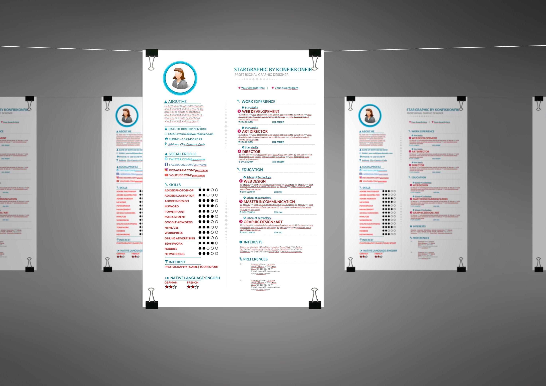Clean-Professional Resume CV .doc ~ Resume Templates ~ Creative Market