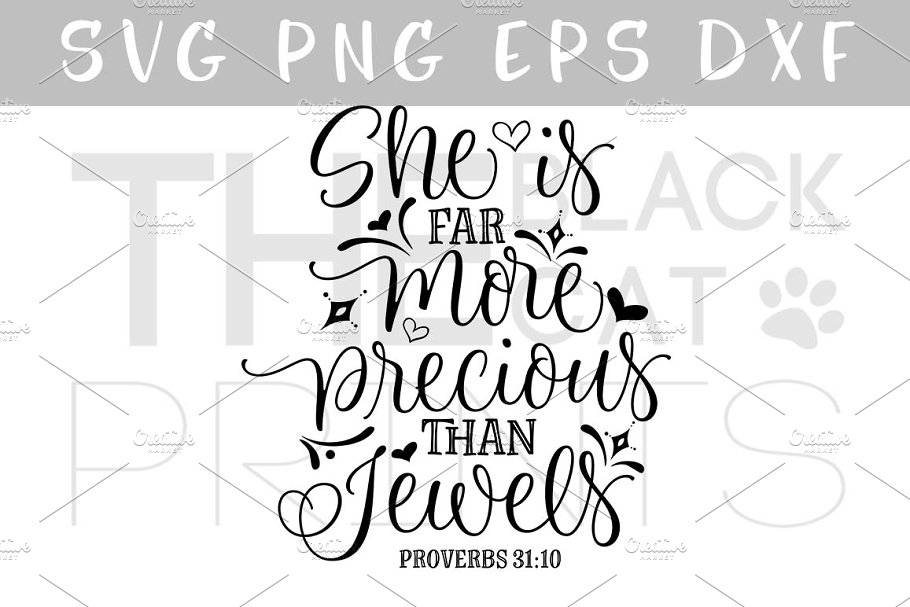 Proverbs 31:10 SVG DXF PNG EPS