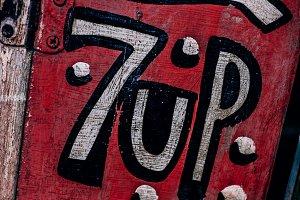 Vintage 7up Sign