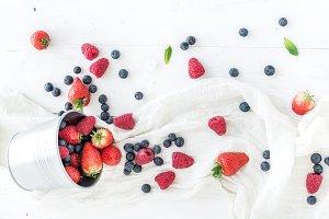 Strawberries & raspberries