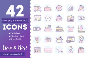 E-Commerce and Shopping Icon Set