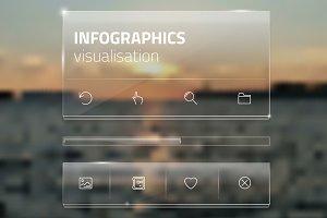 Minimalistic interface template.