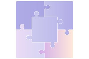 Puzzle set. Vector illustration