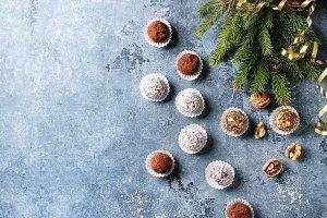 Christmas chocolate truffles