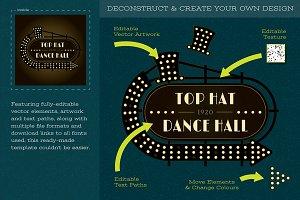 Art Deco Dance Hall Logo Design