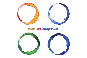 Watercolor colorful circles.