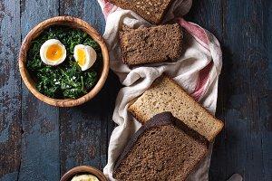 Breakfast with rye bread