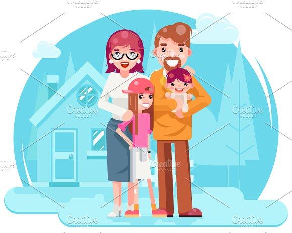 Gambar bergerak sweet family for Mother daughter house plans