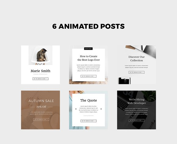 Animated Instagram Stories & Posts in Instagram Templates - product preview 1
