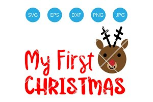 My First Christmas SVG for Baby