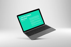 14x9 Laptop Screen Mockup Scape Grey
