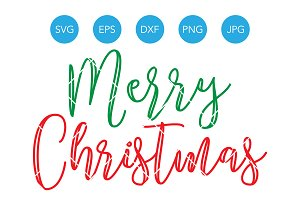Merry Christmas SVG Cutting File