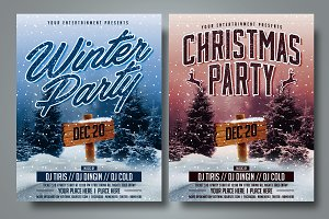 Christmas and Winter Party Flyer