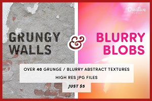 40+ Grungy & Abstract Blur Textures