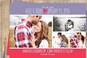 Save The Date Photographer Templates