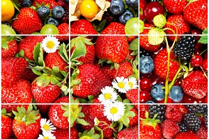 Fruits and berries. Healthy food